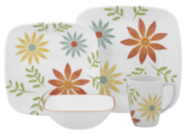 Corelle ® Square™ 16 Piece Happy Days Dinnerware Set