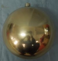 Holiday Time-200mm Shiny Shatterproof Ornaments Gold