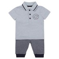 George British Design Baby Boys' Polo T-Shirt and Sweatpant Set 3-6 months