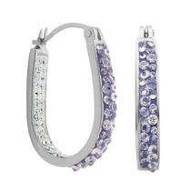 PAJ Iceberg Collection Crystal In & Out Hoop - Tanzanite