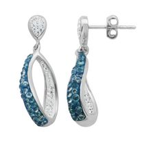 PAJ Iceberg Collection Crystal Twist Earrings - Midnight Blue