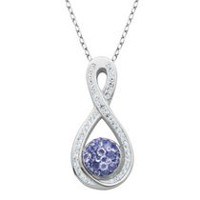 PAJ Iceberg Collection Crystal Infinity Pendant- Tanzanite