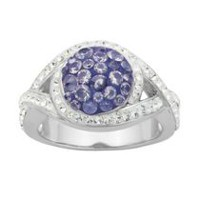PAJ Iceberg Collection Crystal Round Ring - Tanzanite