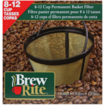 Brew Rite 8-12 Cup Permanent Basket Filter