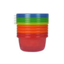 The First Years Take & Toss 8 oz Bowls with Lids - 7 pack, colours may vary