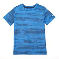 Athletic Works Boys' Short Sleeved Performance Tee Blue L