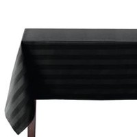 hometrends Microfiber Stripe Tablecloth 60 in  x 120 in