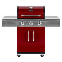 Barbecue au propane liquide à trois brûleurs en rouge Dyna-Glo