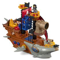 Fisher-Price Imaginext Shark Bite Pirate Ship Figures