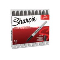 Sharpie Fine Permanent Markers, 10-Pack