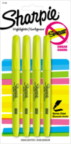 Sharpie Pocket Highlighters, 4-Pack