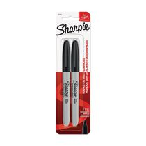 Marqueurs permanents Sharpie, pointe fine, noir, paquet de 2