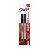 Sharpie Ultra-Fine Marker, Black, 2-Pack