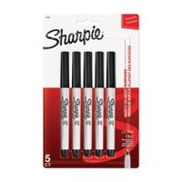 Sharpie Ultra Fine Permanent Markers, Black, 5-Pack