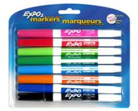 Expo Low Odour Dry Erase Markers, 8-Pack
