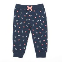 George baby Girls™ French Terry Jogger Navy 12-18 months