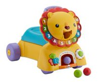 Fisher-Price 3-in-1 Sit, Stride & Ride Lion Toy Vehicle - English Edition