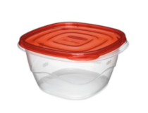Rubbermaid TakeAlongs Food Storage Container, Deep Squares, 5.2 Cup