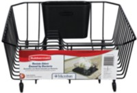 Rubbermaid Twin Sink Dish Drainer (Black)