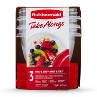 Rubbermaid Take Alongs Liquid Storage Bowls with Lids