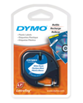 Dymo LetraTag Plastic Tape, 1-Pack
