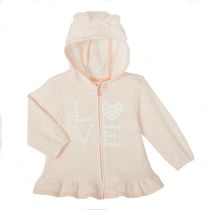 George baby Girls' Fleece Ruffle Hem Hoodie 6-12 months