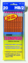Dixon Economiser Pencils - 20 Pack
