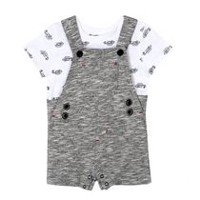 George baby Boys' Shortall & Tee Set Black 18-24 months