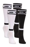 Mitre Pee Wee Soccer White/Black 2-Pack Socks