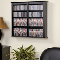 Prepac Double Black Wall Mounted Storage