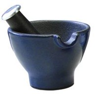 Small Mortar and Pestle Blue