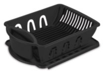 Sterilite 2 Piece Black Sink Set