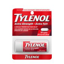 Tylenol Extra Strength Pain Relief Acetaminophen 500mg Caplets, Travel Size Vial