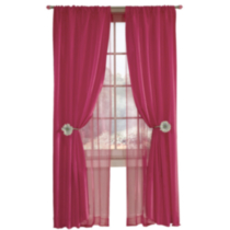 Saavy Double Layer Window Panel Hot Pink