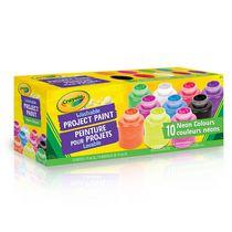 10 pots de peinture lavable Crayola