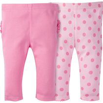 Gerber Childrenswear Newborn Girls' Pant Set - Pack of 2 Pink 0-3 months