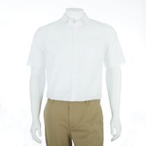 George Men's Short Sleeved Dress Shirt White S/P