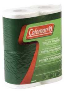 Coleman Biodegradable Toilet Paper - 8 Pack