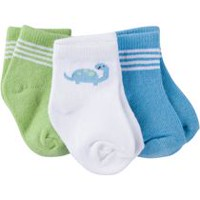 Gerber Chidrenswear Boys' Jersey Ankle Socks - Pack of 3
