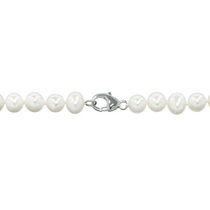 "Simply Pearl Collection-7.5"" Cultured Freshwater Pearl bracelet with sterling silver lobster clasp 7.5"