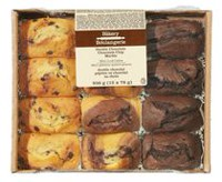 The Bakery Double Chocolate Chocolate Chip Marble Mini loaf Cakes