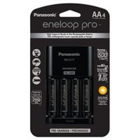 Panasonic eneloop pro Charger with 4 Pre-Charged Rechargeable AA Batteries