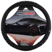 Black/Chrome Steering Wheel Cover