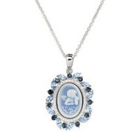 Collection Luminesse-Pendentif Angel Cameo avec cristal Bleu Swarovski elements