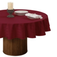 Nappe de table rayé en microfibre de Decolin Canada Inc. Rouge 70in ronde