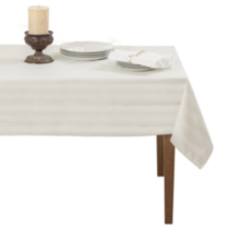 Decolin Canada Inc. Striiped Microfiber Tablecloth White 60in x 84in