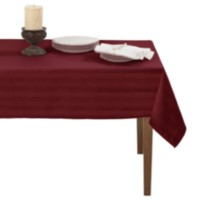 Decolin Canada Inc. Striiped Microfiber Tablecloth Red 60in x 84in