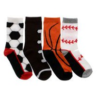 George Boys' Sport Crew Socks, Pack of 4 3-6