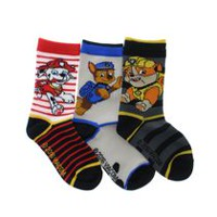 PAW Patrol Boys' Crew Socks; Pack of 3 11-2