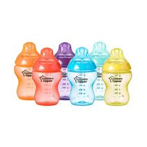 Tommee Tippee Closer to Nature 9oz Fiesta Bottle 6PK